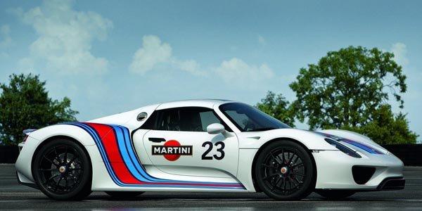Une Porsche 918 Spyder Martini Racing