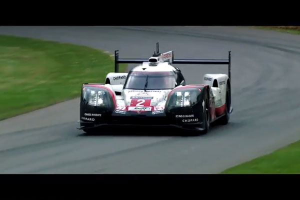 La Porsche 919 Hybrid en démonstration à Goodwood