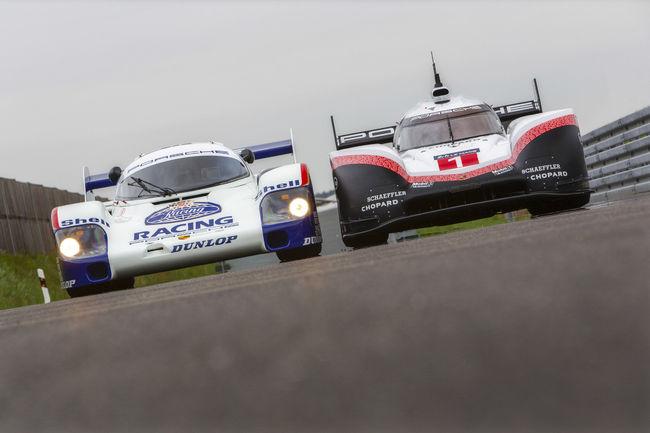 Les Porsche 919 Hybrid Evo et 956 C en action sur le Ring