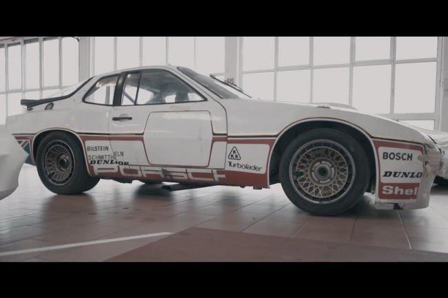 Une Porsche 924 GTP de 1980 en cours de restauration