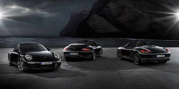 Le Porsche Boxster également en noir