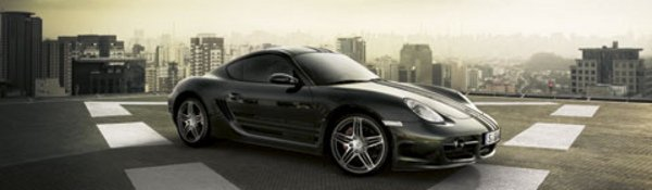 Porsche Cayman S : Paint it black