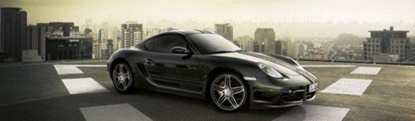 Porsche Cayman S : Paint it black
