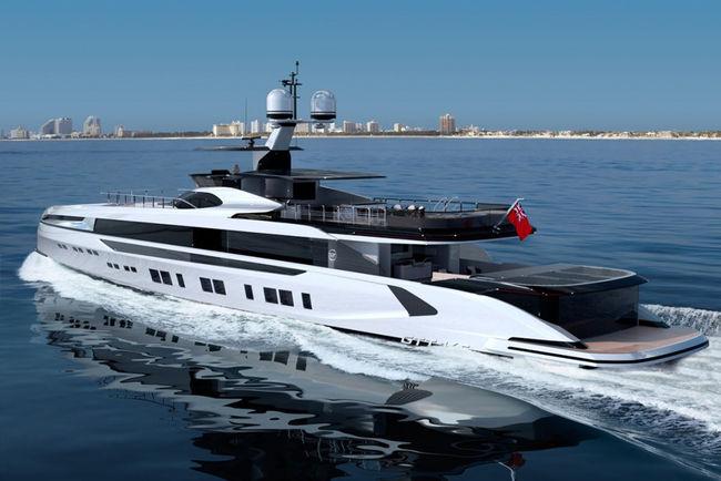 Superyacht Dynamiq GTT 165 par Porsche Design
