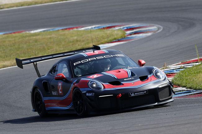 Les Porsche GT2 en piste à Spa-Francorchamps