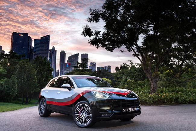 Livrée Racing pour le Porsche Macan Turbo
