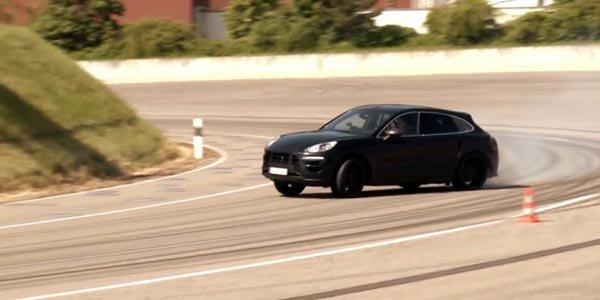 Le Porsche Macan en essais à Weissach