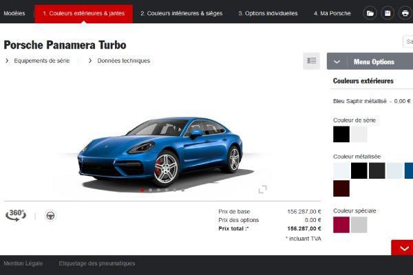 Configurez votre Porsche Panamera