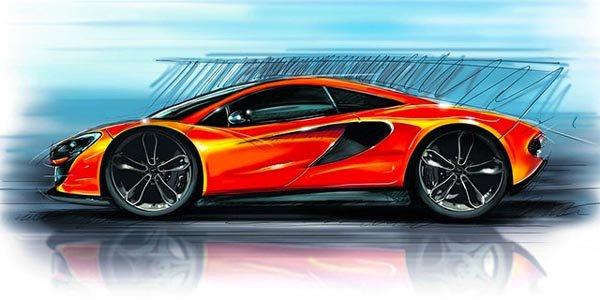 Première esquisse de la McLaren P13