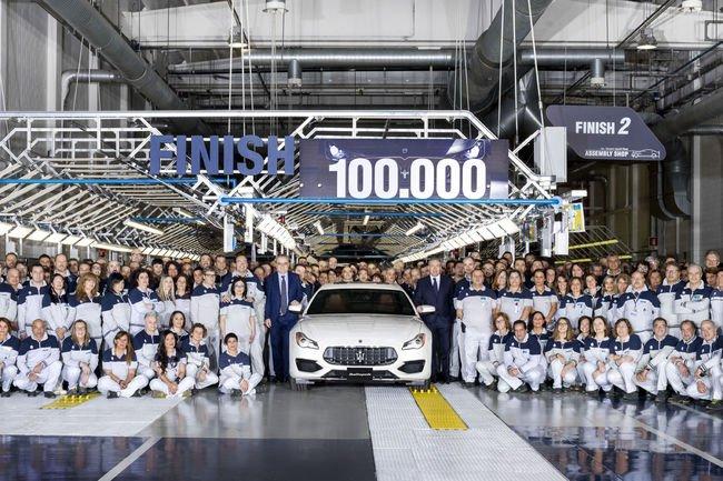100 000 Maserati produites à Grugliasco