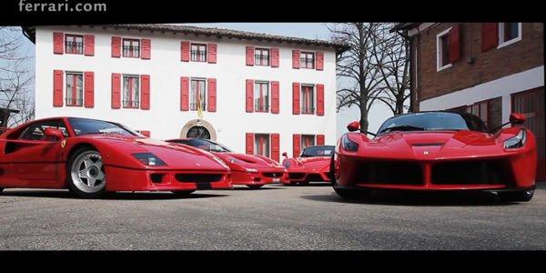 Quatre Ferrari d'exception réunies à Fiorano