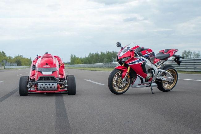 Record du Monde pour le Honda Mean Mower MkII