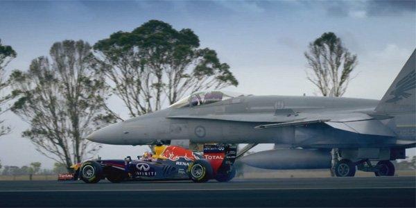 Une F1 se mesure à un avion de chasse