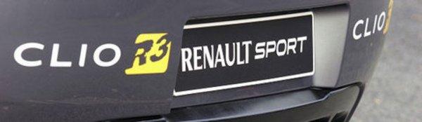 Clio R3 : en tenue de rallye