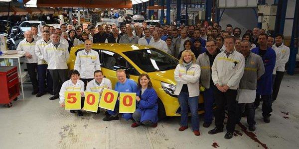 5000 Renault Clio RS sorties de Dieppe