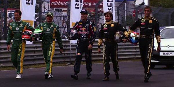 Renault et les stars de la F1