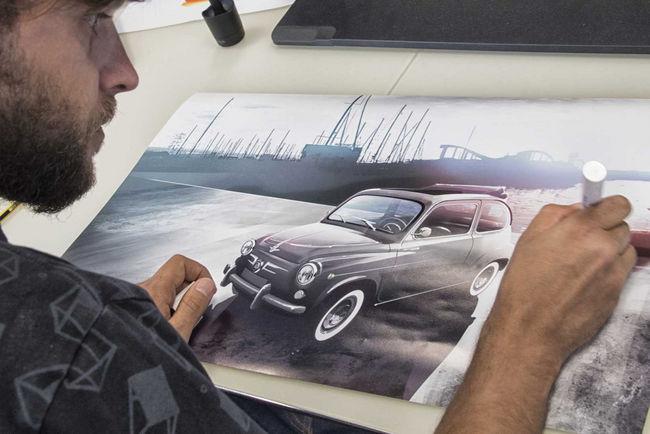 Restauration : une Seat 600 cabriolet présentée à Barcelone