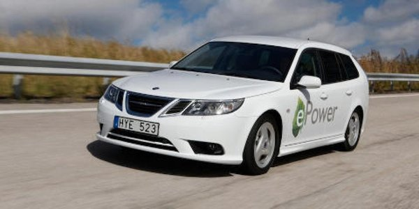 Une Saab 9-3 100% électrique au Mondial