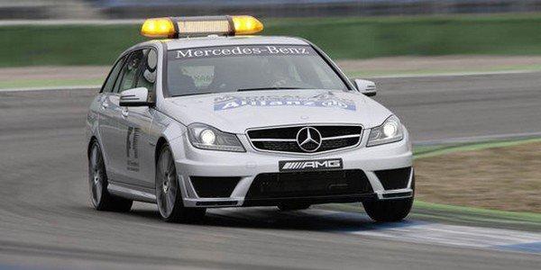 Mercedes SLS AMG et C63 AMG en F1