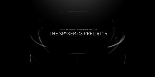 Spyker tease sa C8 Preliator avant Genève