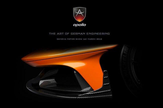 Nouveaux teasers pour la Supercar ApolloN