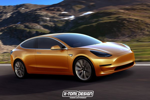 La Tesla Model 3 revisitée par X-Tomi Design
