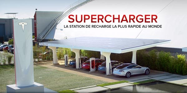 Les Superchargers Tesla arrivent en France