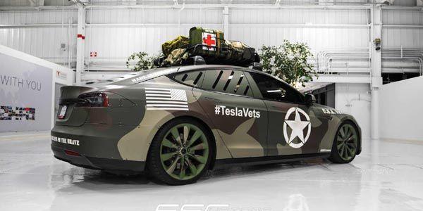 La Tesla Model S En Tenue Camouflage Actualit 233