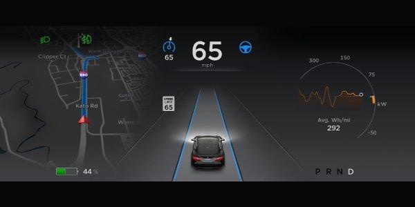 Mise à jour 7.0 pour la Tesla Model S