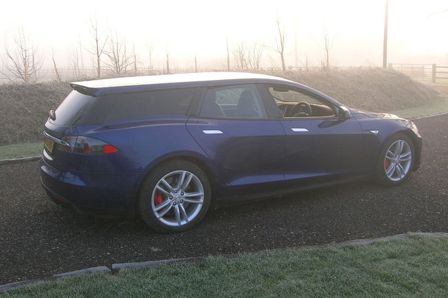 Une Tesla Model S Shooting Brake au London Motor Show