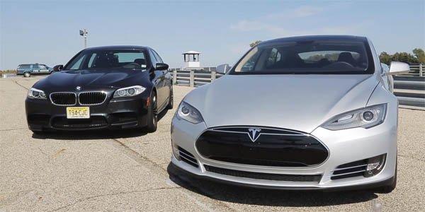 Vidéo : la Tesla Model S bat la BMW M5 !