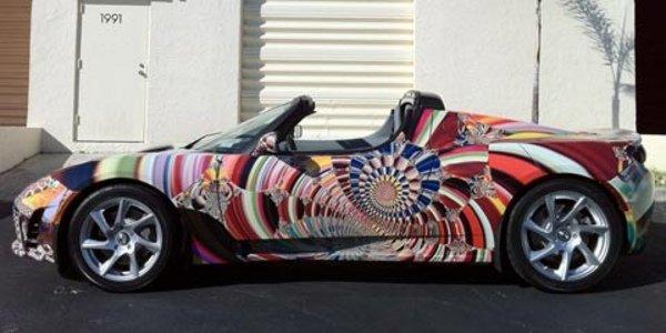 Une Art Car chez Tesla