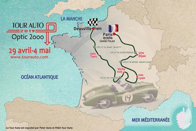 Tour Auto 2019 : 2 250 km au programme