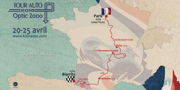 Le Tour Auto 2015 s'offre un Paris-Biarritz