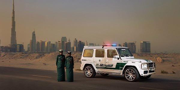 Un Mercedes G63 pour la Police de Dubaï