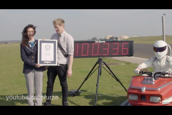 Insolite : record du monde de vitesse en auto tamponneuse