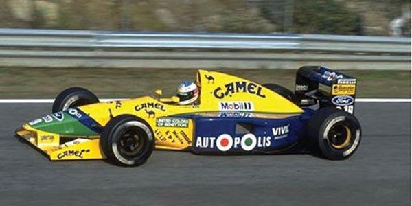 Une F1 Benetton ex-Schumacher à vendre