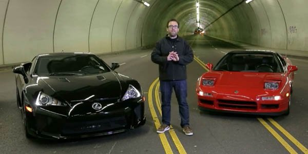 Une Honda NSX face à une Lexus LFA