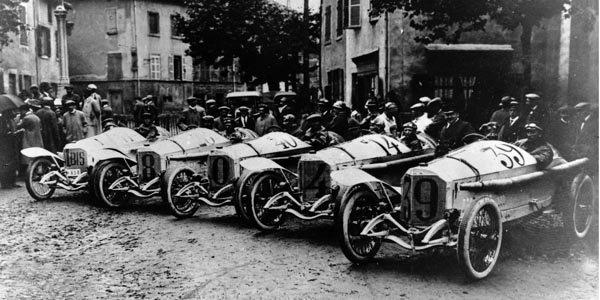 Une Mercedes GP de 1914 à Goodwood