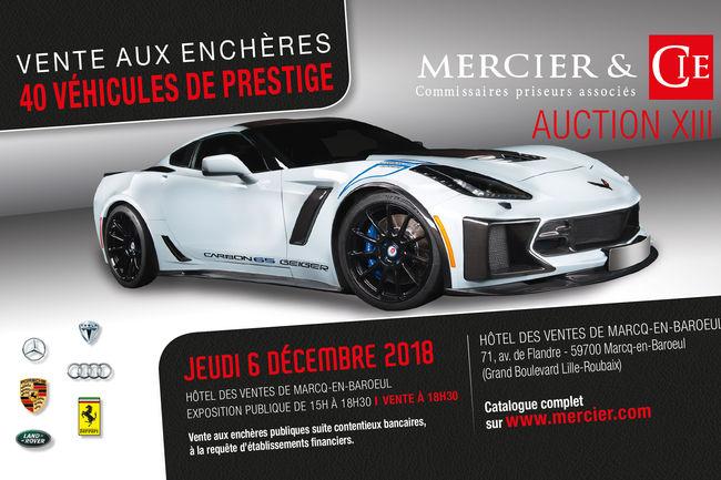 Vente aux enchères Mercier Automobiles le 6 décembre