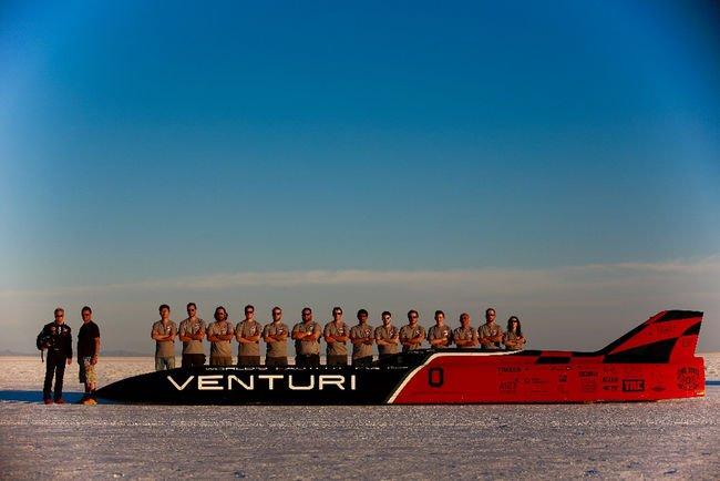 Nouveau record du monde de vitesse pour Venturi