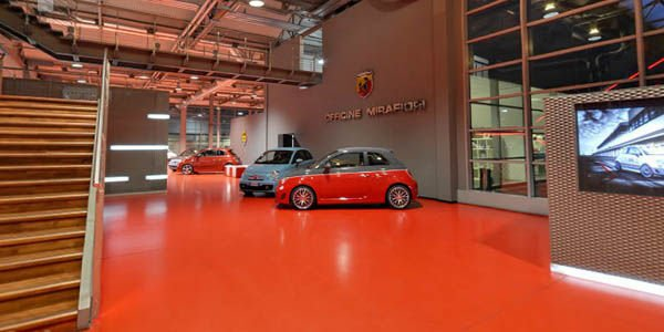Visite virtuelle chez Abarth