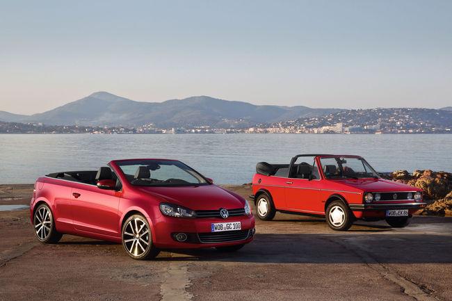 VW fête le 40ème anniversaire de la Golf Cabriolet