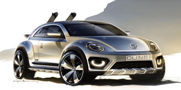 Un concept VW New Beetle Dune à Detroit
