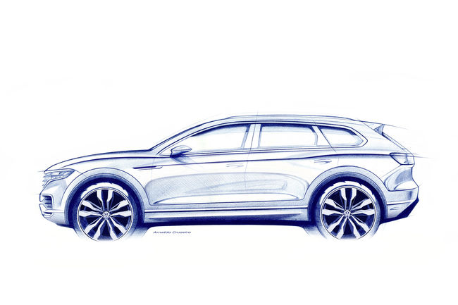 Nouveau Volkswagen Touareg : premier dessin