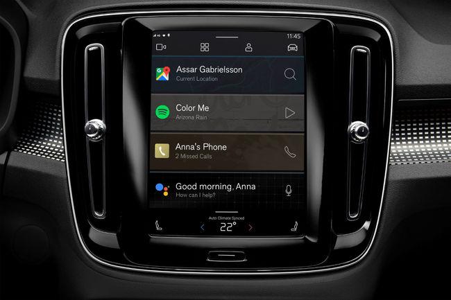 Un nouveau système multimédia pour le Volvo XC40 électrique