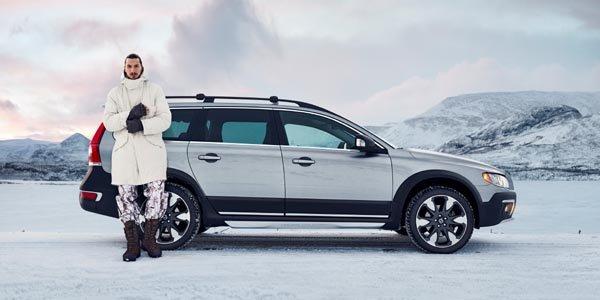 Zlatan Ibrahimovic roule pour Volvo