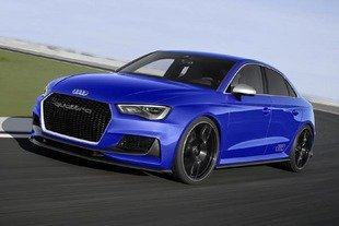 Audi A3 Clubsport quattro en action