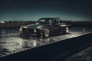 Une BMW 3.0 CSL IMSA au look de Batmobile