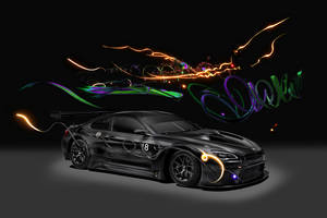 La BMW M6 GT3 Art Car en action